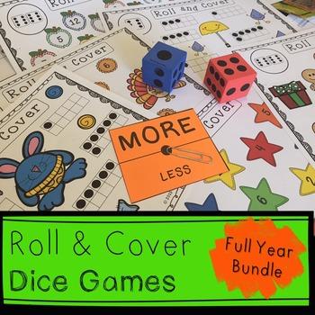 Kindergarten CCSS.Math.K.CC.B.5: 36 Roll and Cover Games M