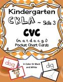 Kindergarten CKLA Engage NY ELA Skills 3 CVC words pocket chart cards