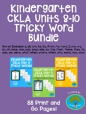 Kindergarten CKLA Skills Units 8-10 Tricky Words Bundle