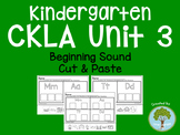Kindergarten CKLA Skills Unit 3 Beginning Sound Cut and Paste Sort