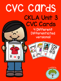 Kindergarten CKLA Skills Unit 3 CVC Cards