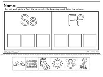 Kindergarten CKLA Unit 4 Beginning Sound Cut and Paste Packet