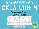 Kindergarten CKLA Skills Unit 4 Beginning Sound Cut and Paste Packet
