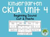 Kindergarten CKLA Skills Unit 4 Beginning Sound Cut and Paste Packet