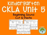 Kindergarten CKLA Skills Unit 5 Beginning Sound Cut and Paste Packet
