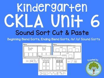 Kindergarten CKLA Unit 6 Sound Sorts