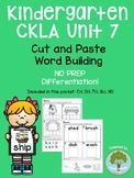 Kindergarten CKLA Skills Unit 7 Word Building- Beginning and Ending Digraphs