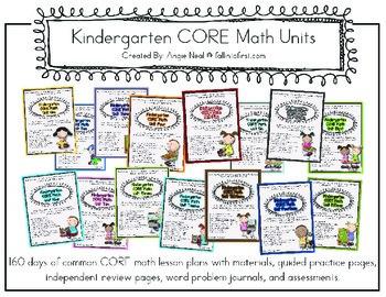 Kindergarten CORE Math Units 1-16