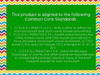 Kindergarten CVC/Isolating Sounds Word Exit Ticket Pack
