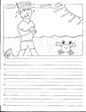 Kindergarten CVC Sentence Story Starters Picture Prompts Vowel Writing Paper