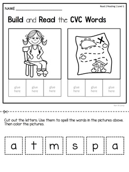 Kindergarten CVC & Sight Word No-Prep Packet