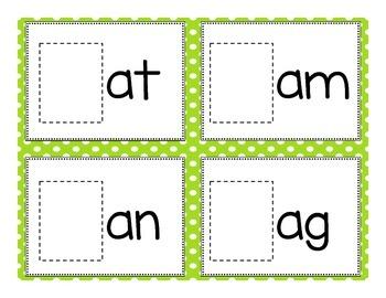 Kindergarten CVC Word Builders Game