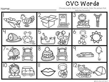 Kindergarten CVC Word Center - CVC Word Literacy Center