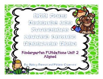 Kindergarten - CVC words - Uppercase Letter Writing