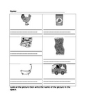Kindergarten CVC worksheet