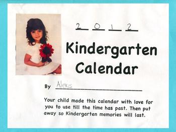 Kindergarten Calendar