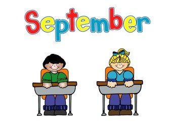 Kindergarten Calendar Activity Days of the week Months of the year