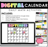 Digital Calendar Math   Google Slides   Distance Learning