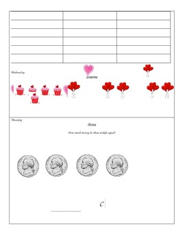 Kindergarten Calendar Packet - February
