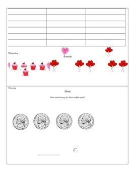 Kindergarten Calendar Packet - February