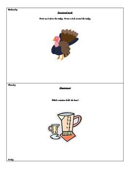 Kindergarten Calendar Packet - November
