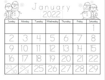 Blank Calendar 2018 To Fill In