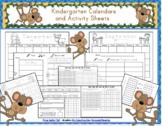 Kindergarten Calendar/Math Journal Sheets Includes Blank and Prefilled 2019-2020