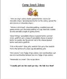 Kindergarten Camp Lesson Plans and Activities