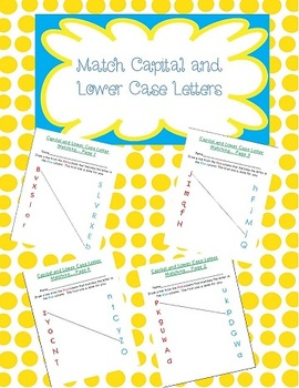 Kindergarten Capital and Lower Case Letter Activity Sheets