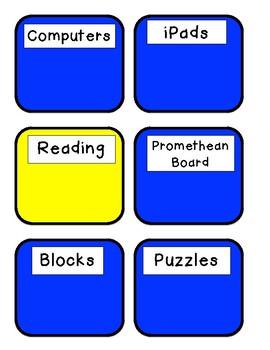 Kindergarten Center Cards