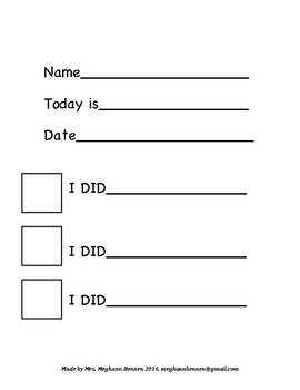 Kindergarten Center Checklist's