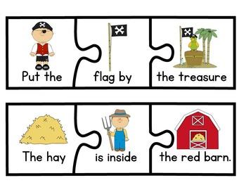 Reading Centers Kindergarten | Reading Puzzles