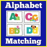 Alphabet Matching Game Kindergarten Preschool
