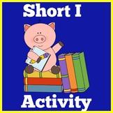 Short I   Worksheets Activity   Preschool Kindergarten Sho