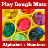 Play Dough Mats Alphabet | Numbers