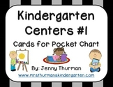 Kindergarten Centers #1: Cards for Pocket Chart