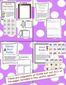 Kindergarten Centers - April