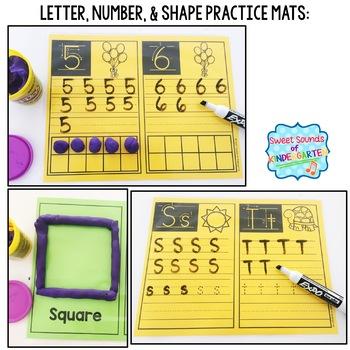 Kindergarten Centers {Back to School Centers} Math & Literacy Centers