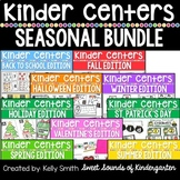 Kindergarten Centers For the Year {Literacy and Math Cente