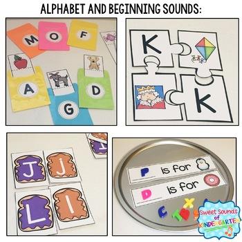 Kindergarten Centers Bundle {Reading and Literacy Centers Bundle}