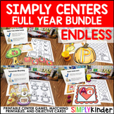 Kindergarten Centers Bundle - Simply Centers Year Long Bundle - Literacy Centers