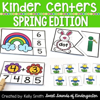 Kindergarten Centers {Spring Centers} Spring Math and Literacy