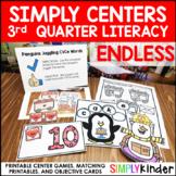 Kindergarten Centers - Third Quarter Simply Centers Bundle - Literacy Centers