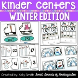 Kindergarten Centers {WINTER Centers} Winter Math and Literacy
