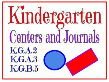 Kindergarten Centers and Journals K.G.2, K.G.3, K.G.5