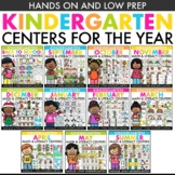 Kindergarten Centers for the Year Bundle | Low Prep Math a