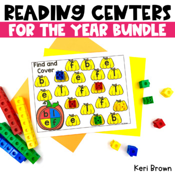 Kindergarten Centers for the Year - ELA centers