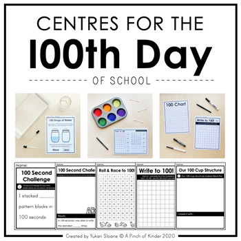 Kindergarten Centres for the 100th Day of School