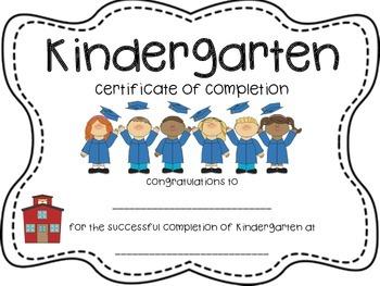 Kindergarten Certificate Diploma