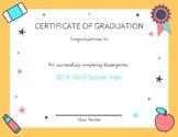 Kindergarten Certificate: End of Year Celebration